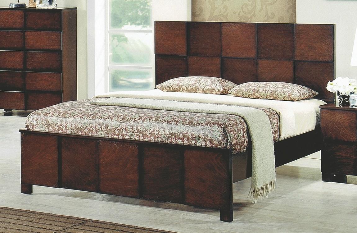 Levně Manželská postel 180x200 cm v dekoru ořech antický s roštem KN937
