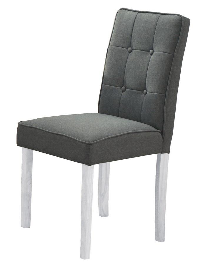 Pohodlná jídelní čalouněná židle v šedé barvě KN425