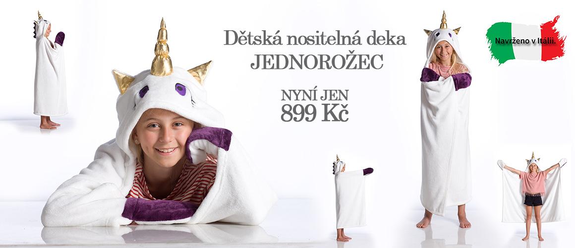 Dětská nositelná deka jednorožec