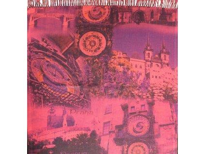 Pašmínové šály s motivem Praha