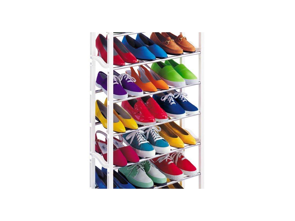 Skládací botník Amazing Shoe Rack 30 párů - bílá