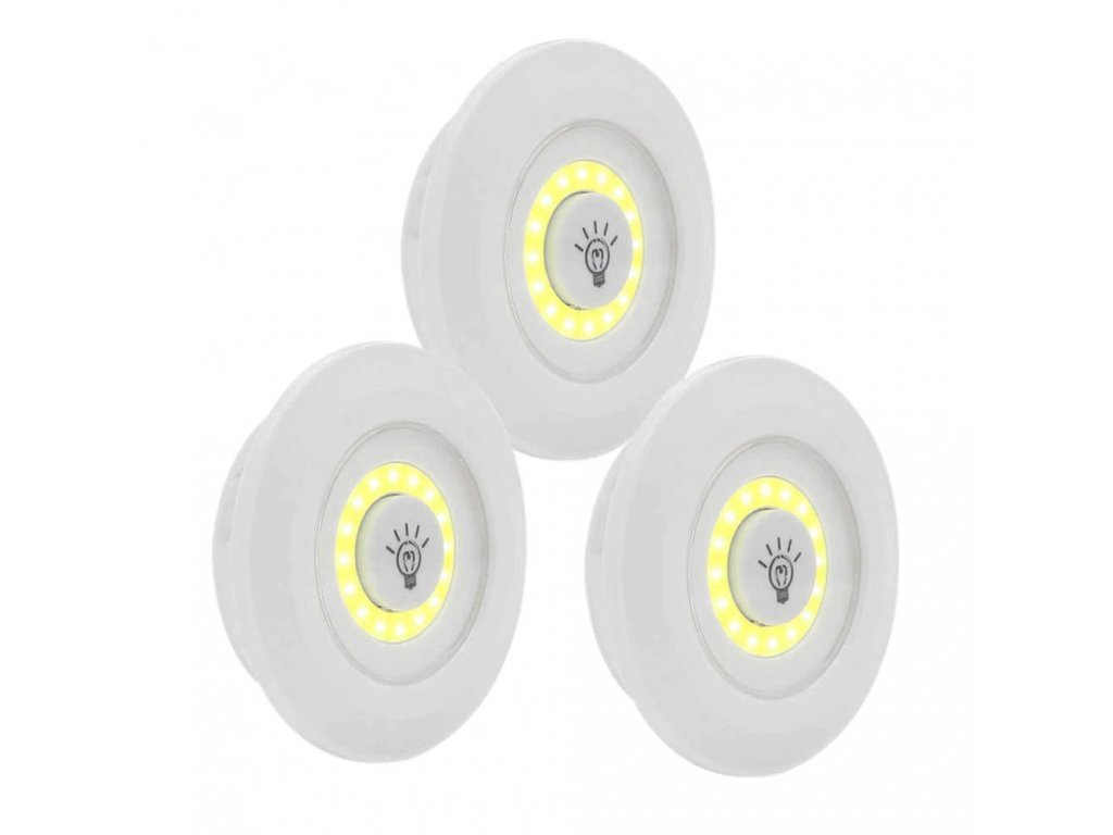 3 pcs Remote Control LED Night Light Bedside Lamp Closet Lights Super Bright Under Cabinet Lamp