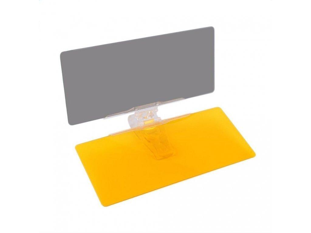3446 101963 2 4 car sunshade day night sun visor mirror anti dazzle clip on driving vehicle shield clips on