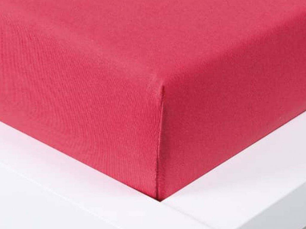 Jersey prostěradlo Exclusive jednolůžko - malinová 90x200 cm