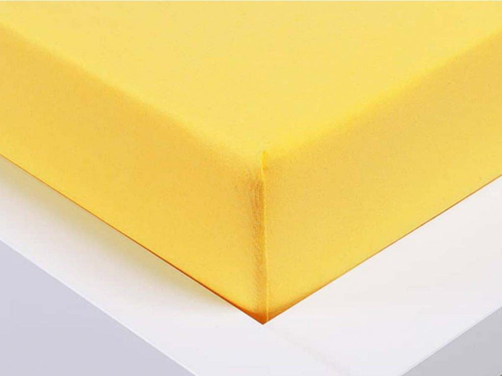 Jersey prostěradlo Exclusive jednolůžko - žlutá 90x200 cm