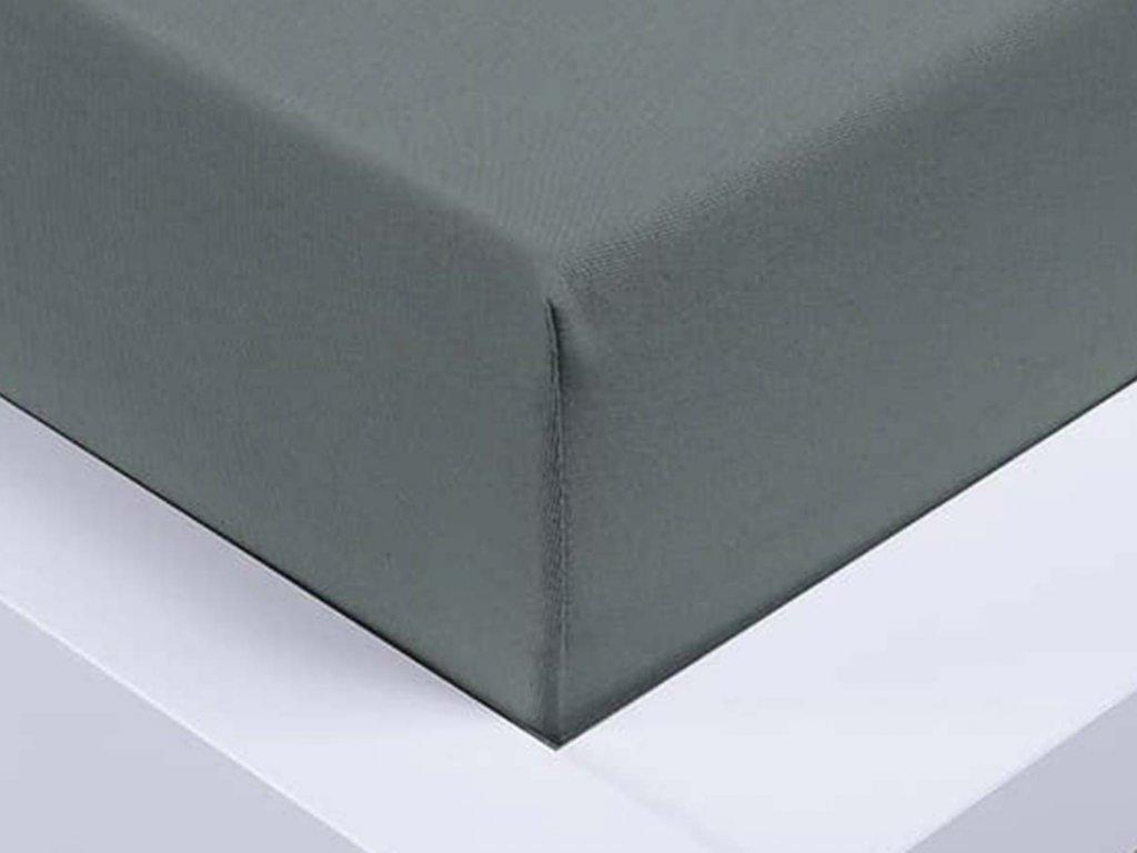 Jersey prostěradlo Exclusive jednolůžko - tmavě šedé 90x200 cm