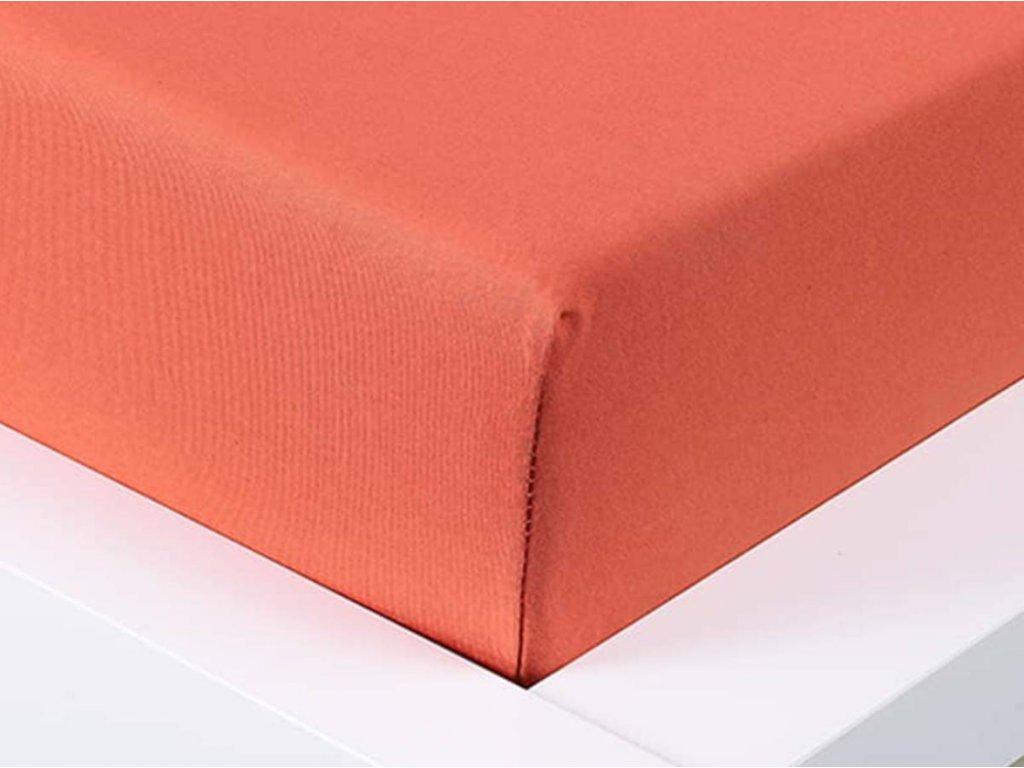 Jersey prostěradlo Exclusive jednolůžko - cihlová 90x200 cm