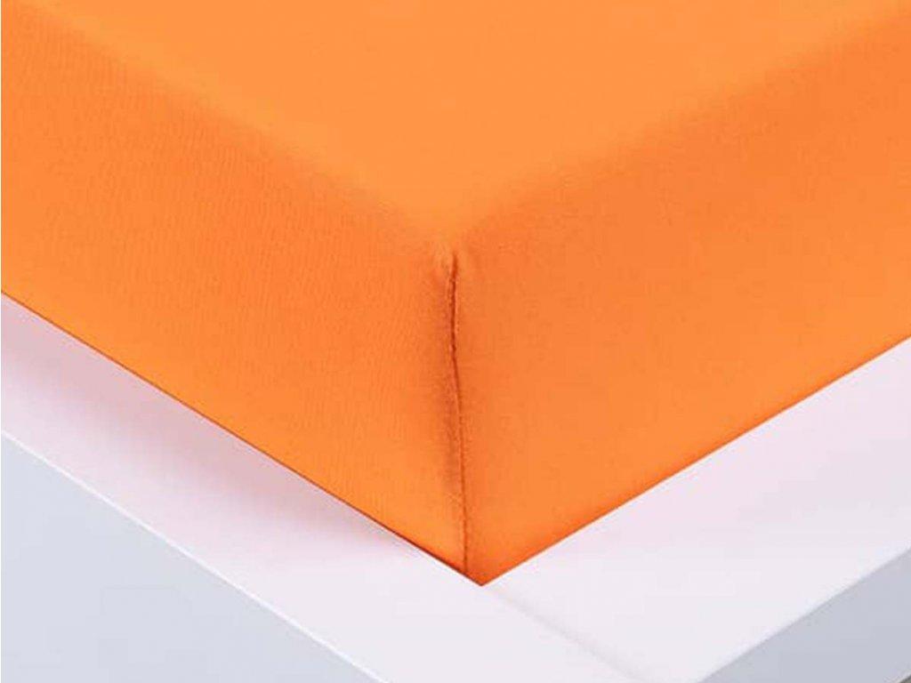 Jersey prostěradlo Exclusive dvoulůžko - oranžová 180x200 cm