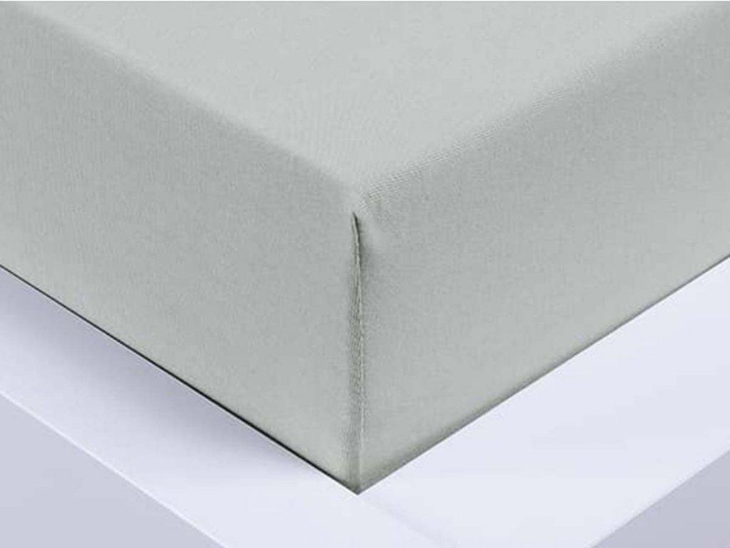 Jersey prostěradlo Exclusive dvoulůžko - světle šedá 180x200 cm