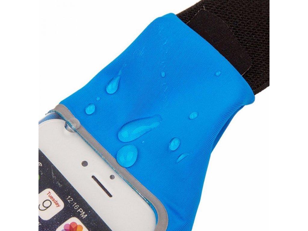 2057 sportovni vodeodolne pouzdro ledvinka na pas na mobili telefon univerzalni 4 7 barva zeleno zluty