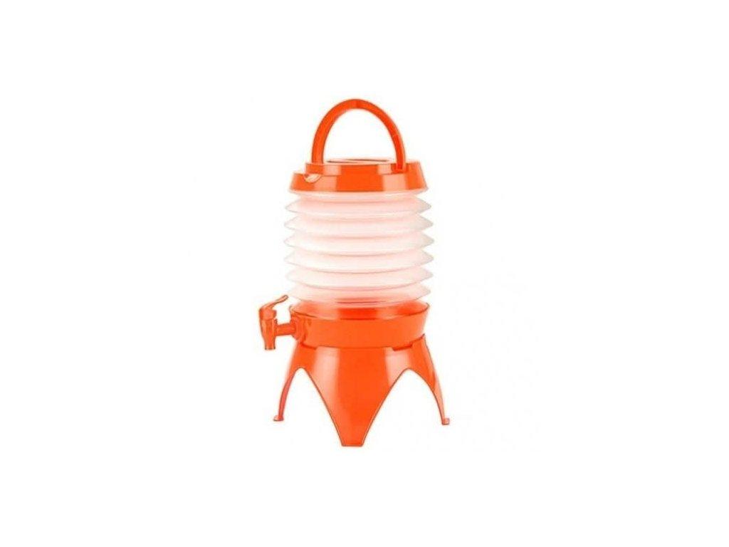 5103 2 skladaci kanystr na vodu 3 5 l oranzovy