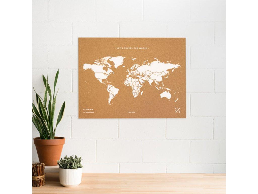 woody map natural cork world white (1)