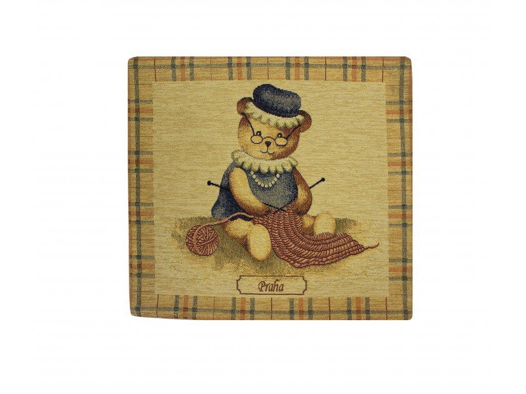 1585 dekoracni povlak na polstar medved velky