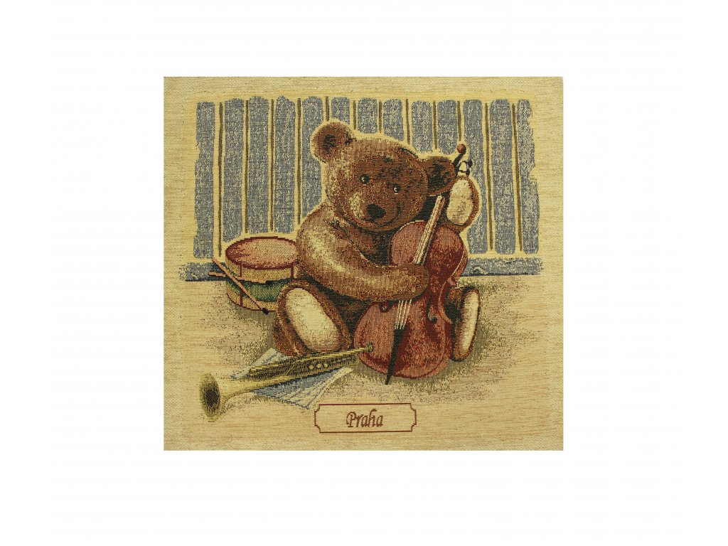 1612 dekoracni povlak na polstar medved velky