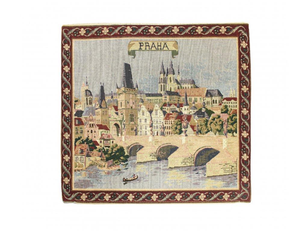 1621 dekoracni povlak na polstar s motivem praha velky