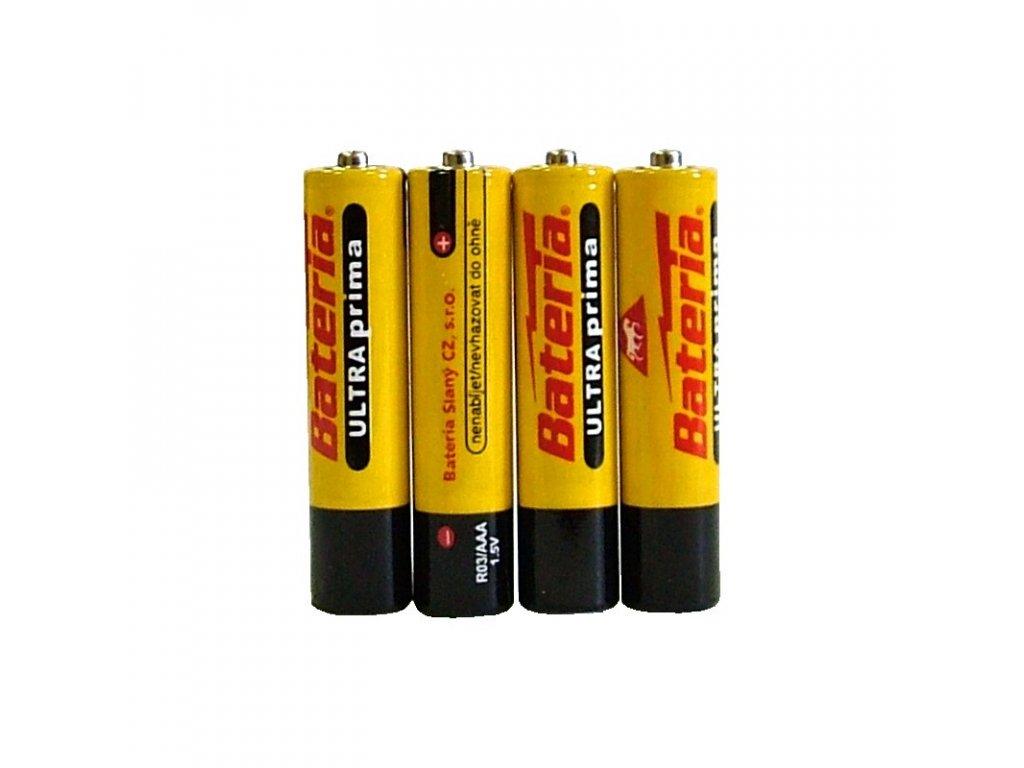 Alkalické baterie AAA- 4 ks