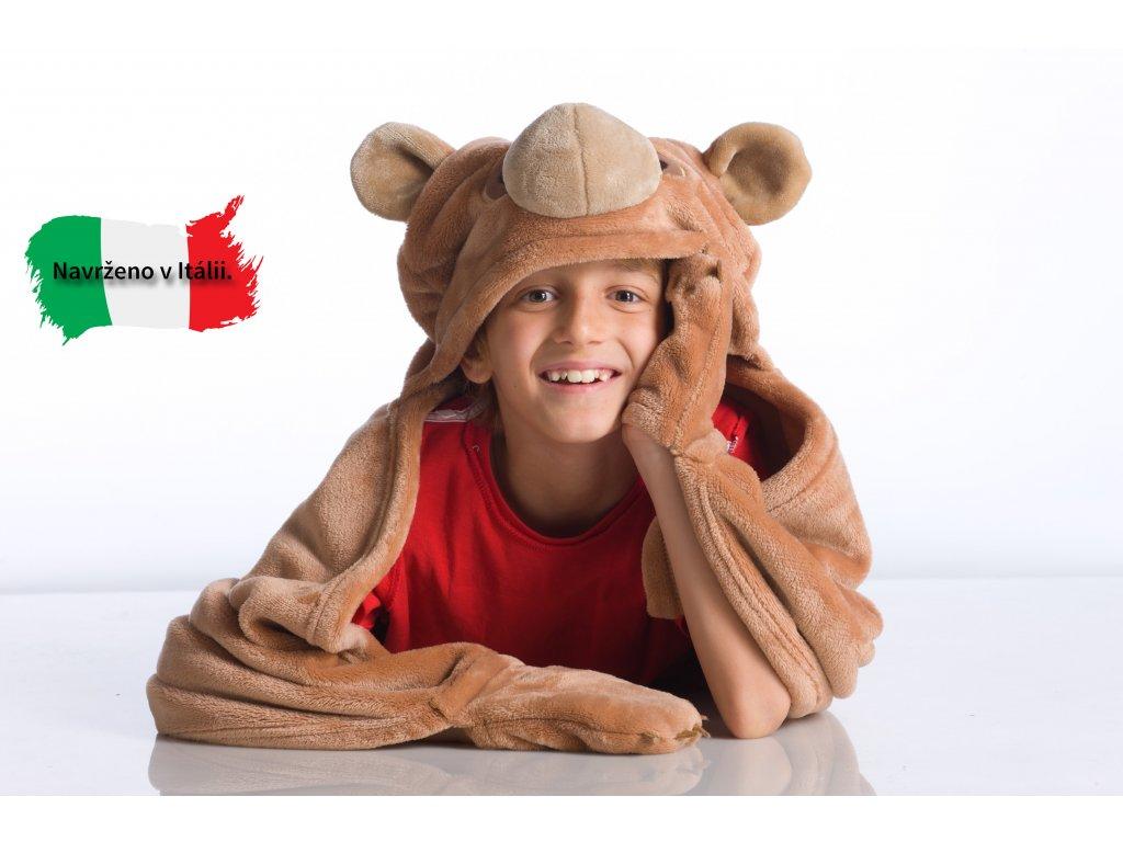 Dětská nositelná deka medvěd