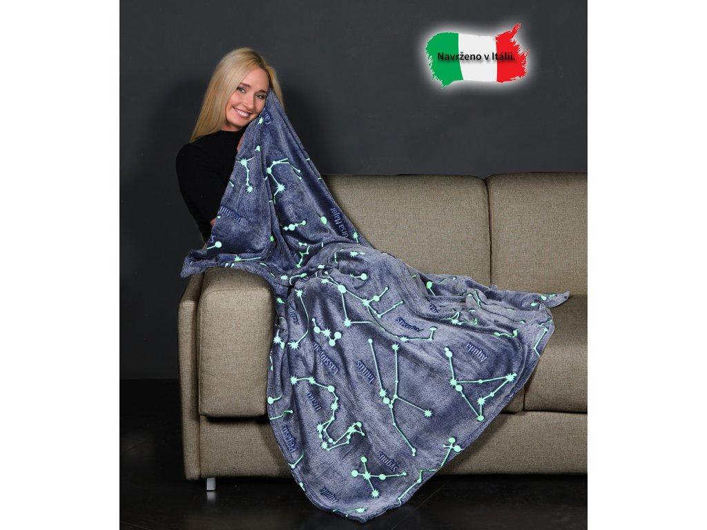 Svítící deka souhvězdí