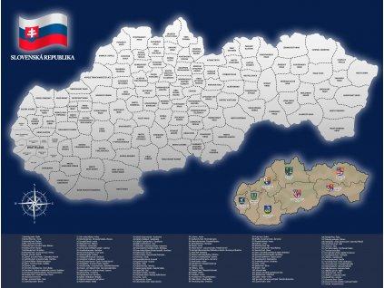 2525 stieracia mapa slovenska republika