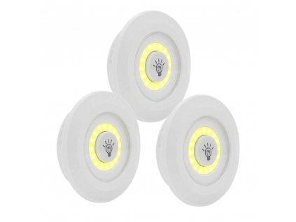 3 pcs Remote Control LED Night Light Bedside Lamp Closet Lights Super Bright Under Cabinet Lamp