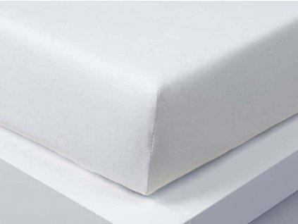 Jersey prostěradlo Exclusive jednolůžko - bílá 90x200 cm