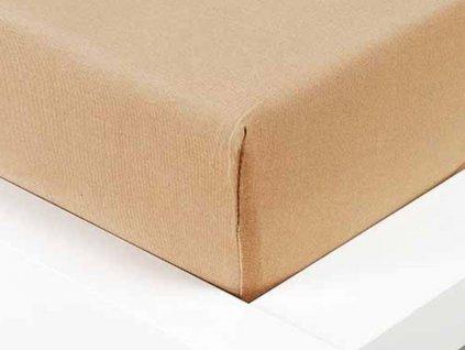 Jersey prostěradlo Exclusive dvoulůžko - béžová 180x200 cm
