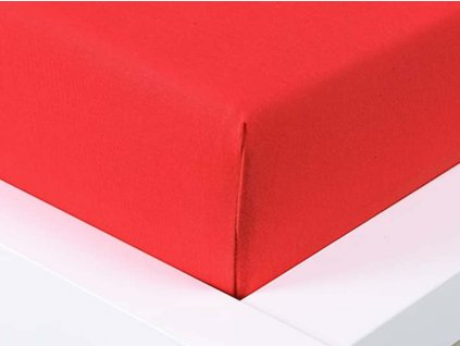 Jersey prostěradlo Exclusive dvoulůžko - červená 180x200 cm