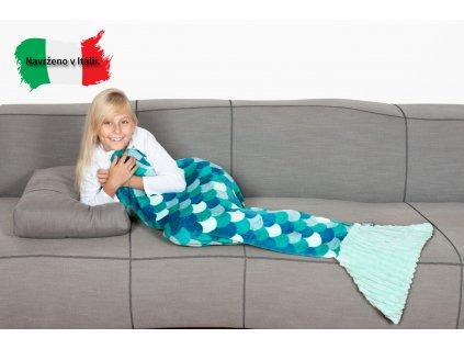 Dětská deka mořská panna modrá