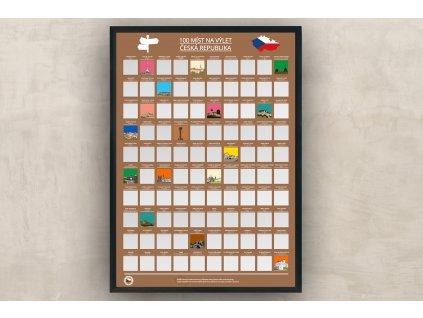 Stírací plakát Česká Republika - 100 míst k navštívení