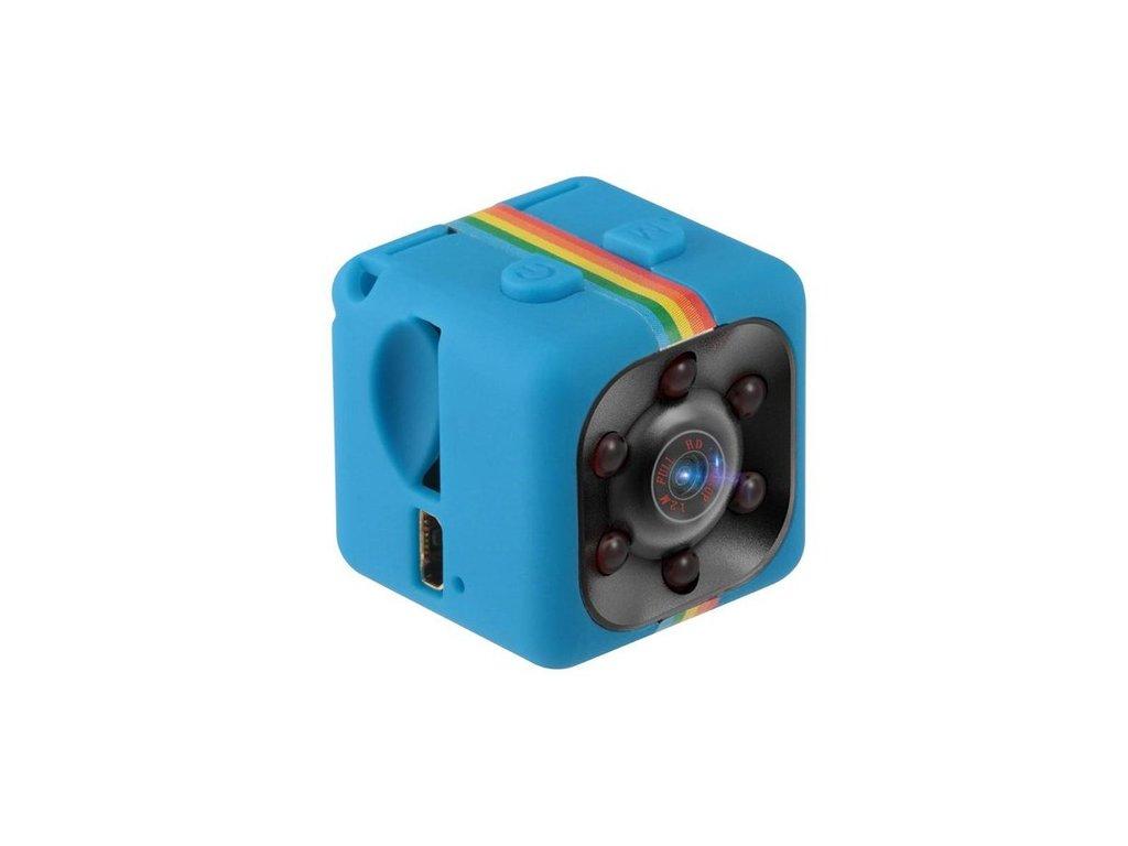 Outdoorová mini HD kamera SQ11 - modrá