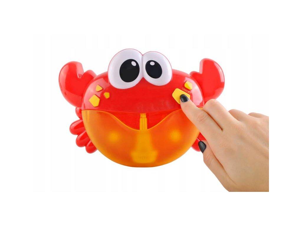 Bublinkovač do vane v tvare krabu