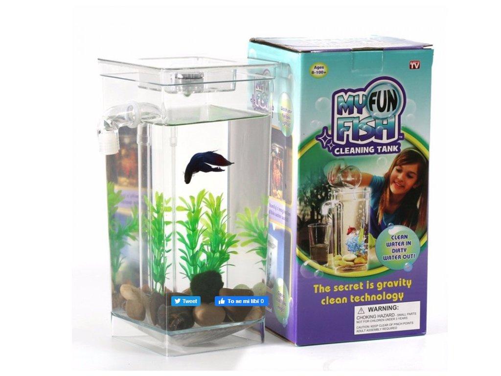 14170 samocistici akvarium my fun fish