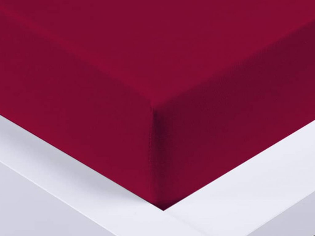 14044 jersey prosteradlo exclusive jednoluzko bordo 90x200 cm