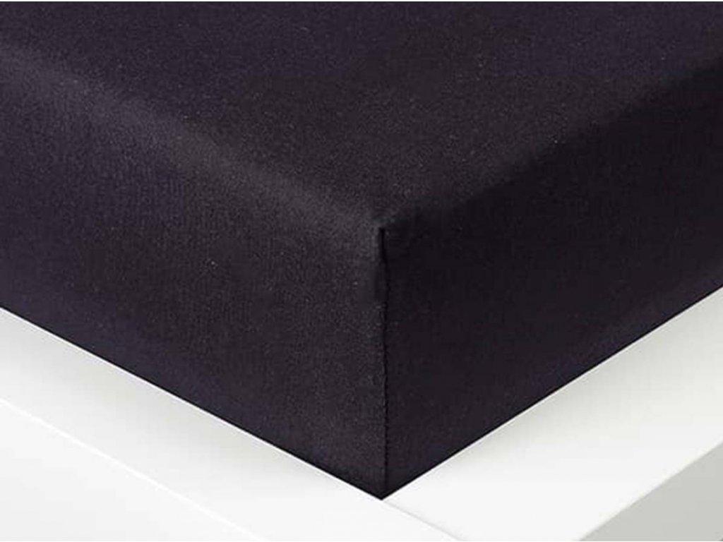 14011 jersey prosteradlo exclusive jednoluzko cerne 90x200 cm