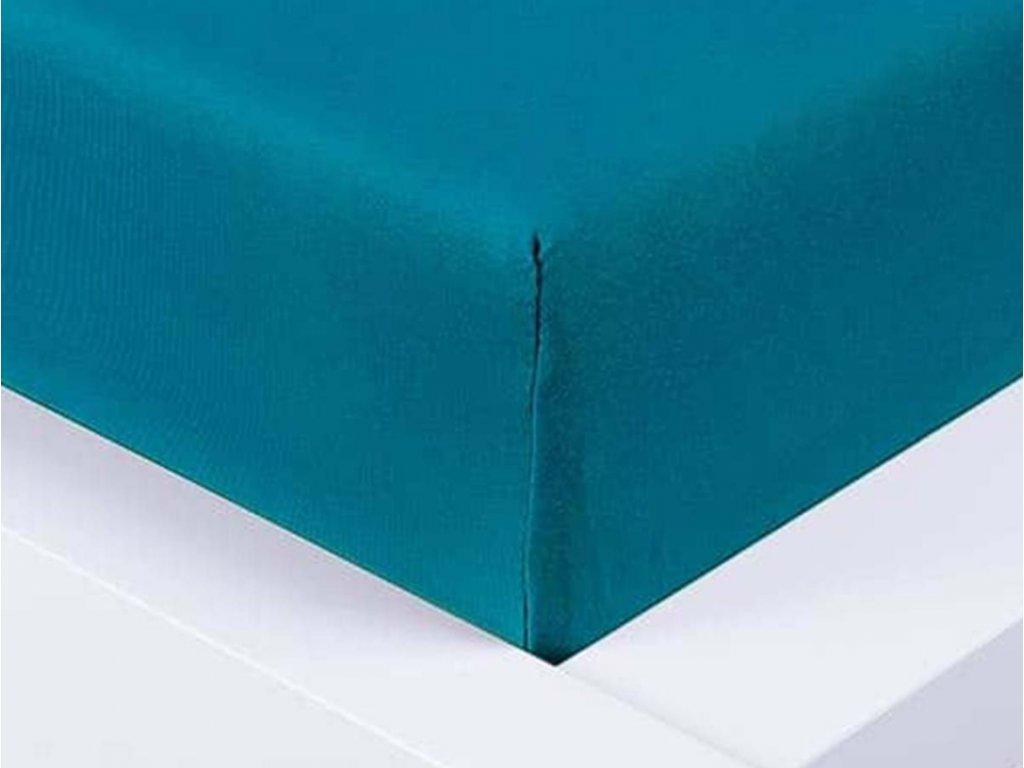 14035 jersey prosteradlo exclusive jednoluzko temne modra 90x200 cm