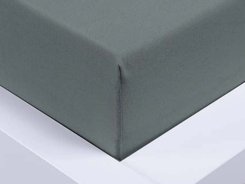 14026 jersey prosteradlo exclusive jednoluzko tmave sede 90x200 cm