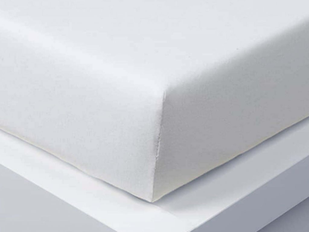 Jersey plachta Exclusive dvojposteľ - biela 180x200 cm