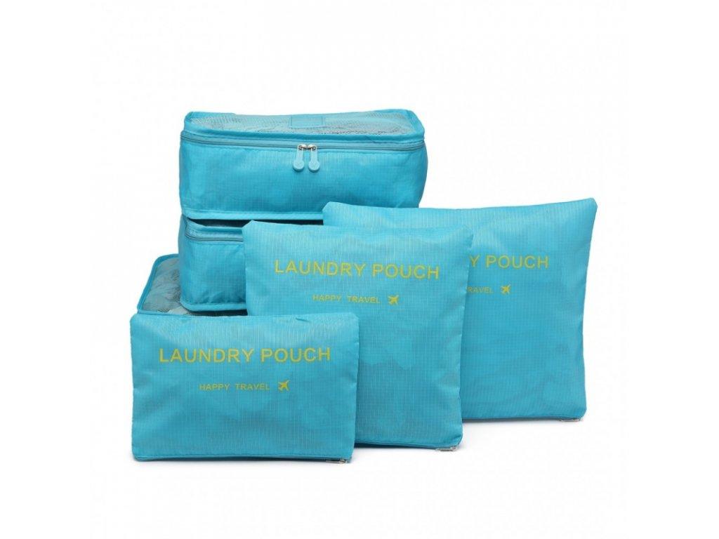 Sada cestovních organizéru do kufru (Barvy modrá)