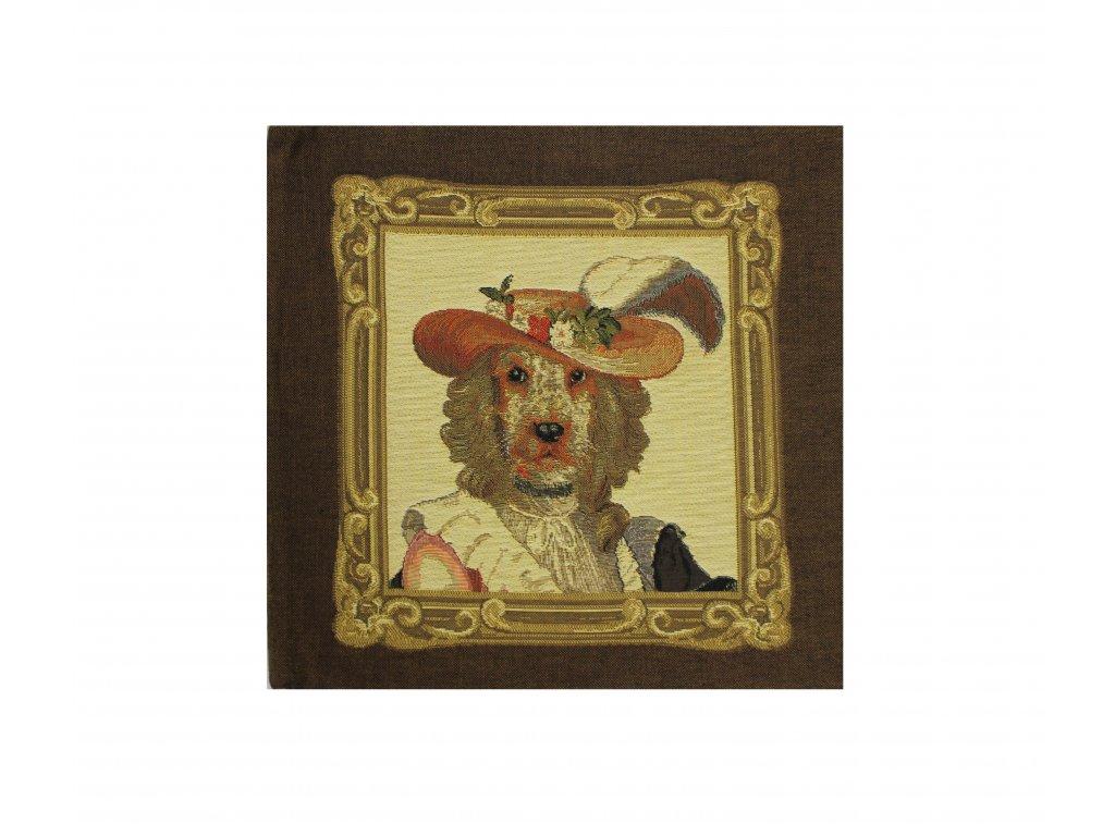 1615 dekoracni povlak na polstar pejsek maly