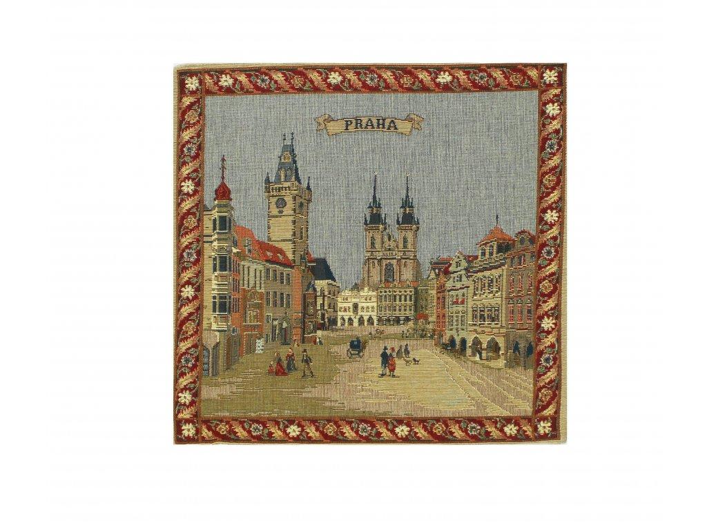 1618 dekoracni povlak na polstar s motivem praha maly