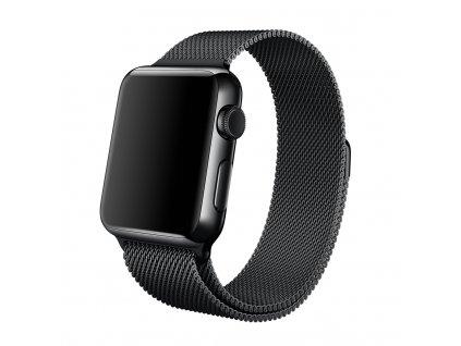 Řemínek pro Apple Watch Milánský tah- vesmírně černý- 38/42MM (38mm Řemínek pro Apple Watch 38mm- vesmírně černý)
