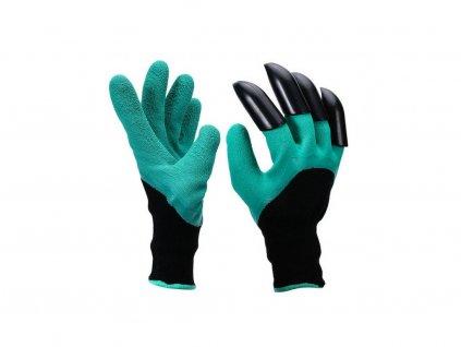 1855 3 zahradnicke rukavice s drapy