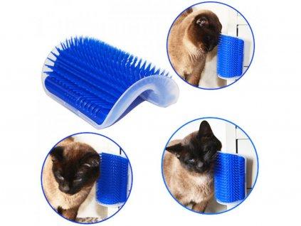 Masážna kefa pre mačky