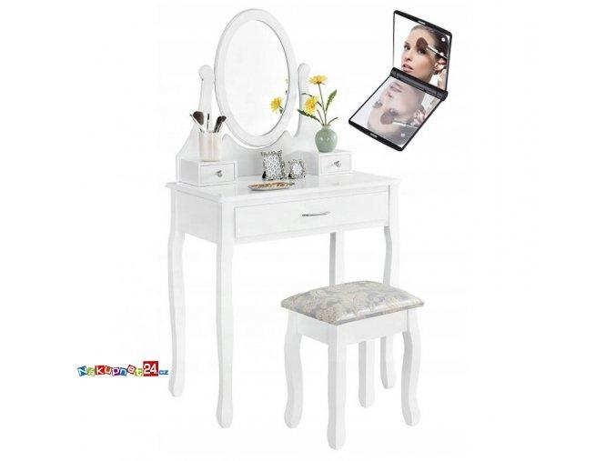 1082 3 toaletni stolek s taburetem 02 zrcadlo s led osvetlenim zdarma
