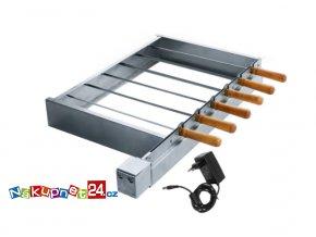Sada pro grilování špízů s elektrickým pohonem 6 špízů (Vzor Baterie s nabíječkou)
