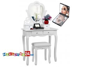 1085 6 toaletni stolek s taburetem 03 zrcadlo s led osvetlenim zdarma