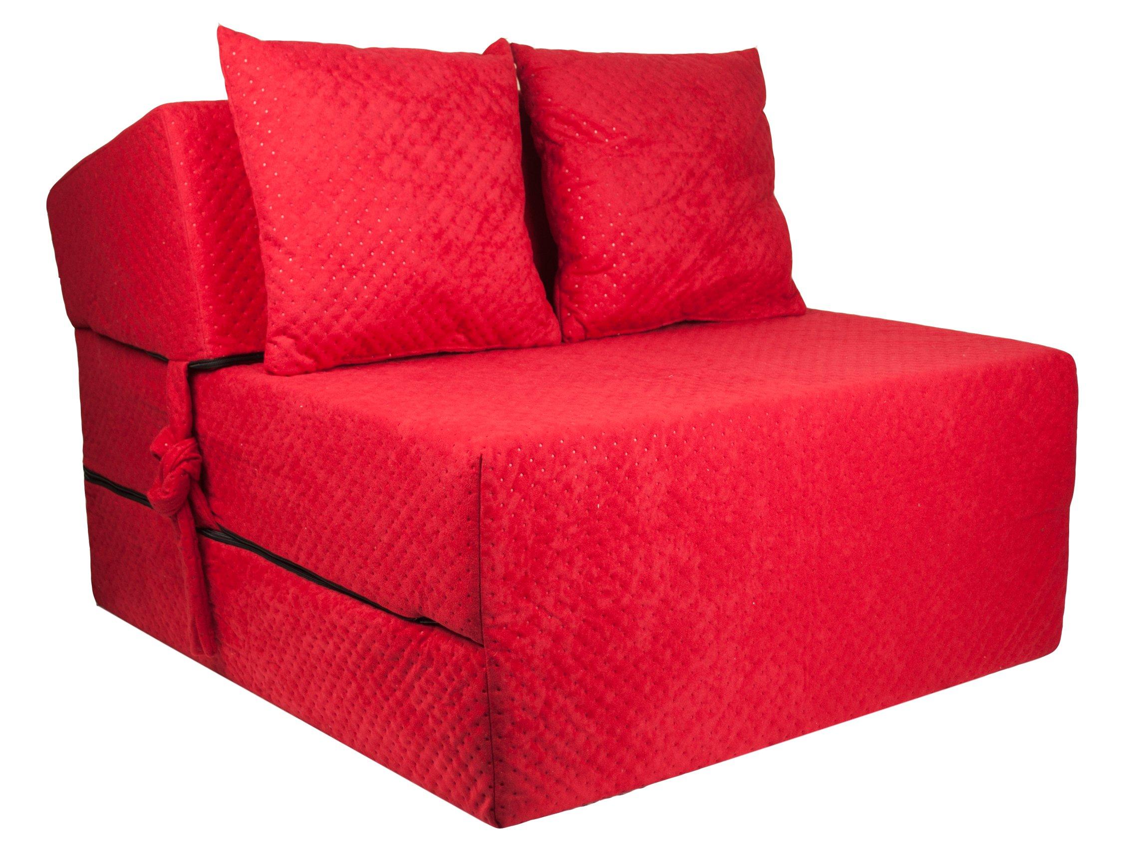 FIMEX Rozkládací křeslo SUPER Comfort pro hosty 70x200x15 Červená