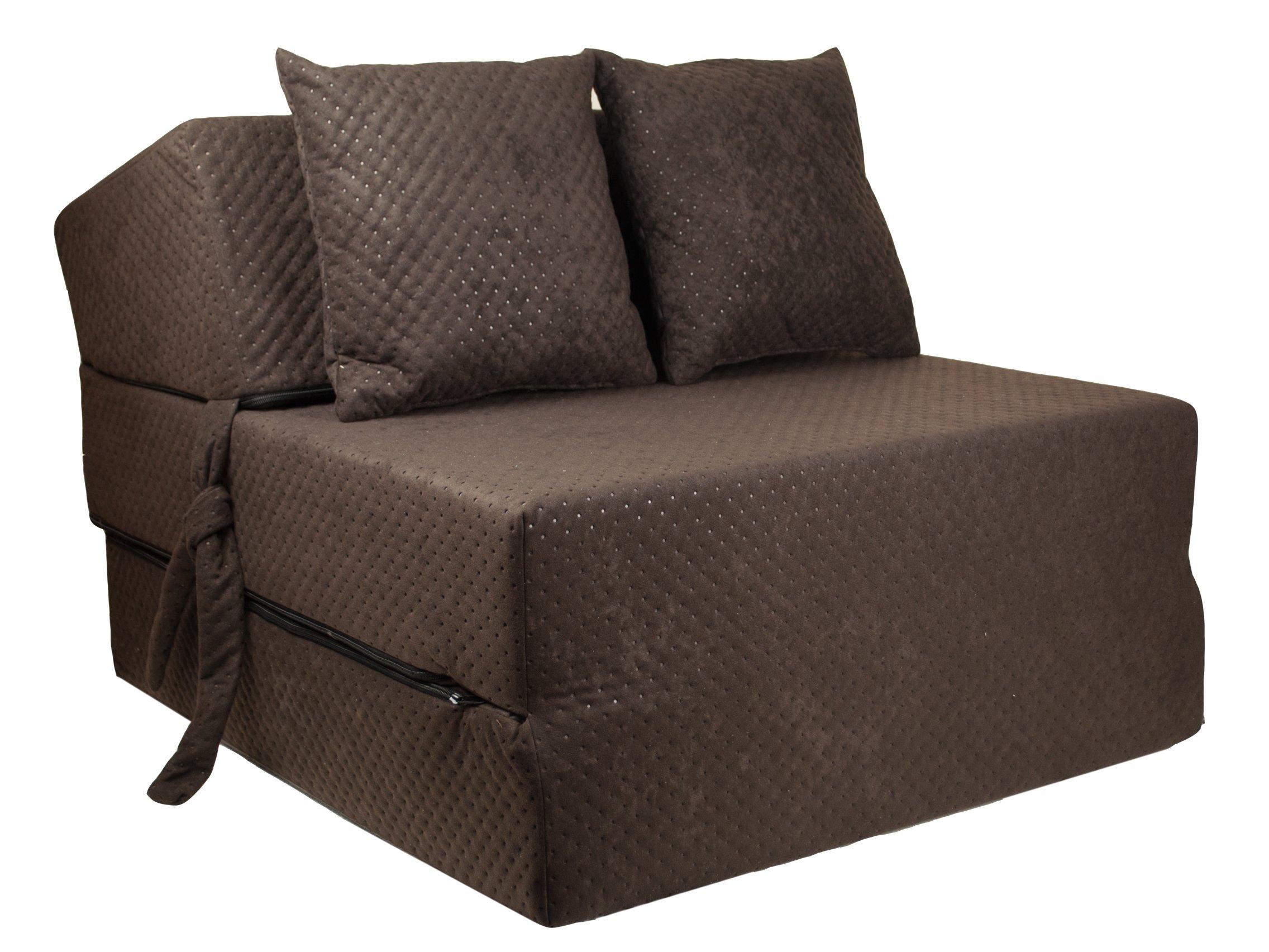 FIMEX Rozkládací křeslo SUPER Comfort pro hosty 70x200x15 Hnědá