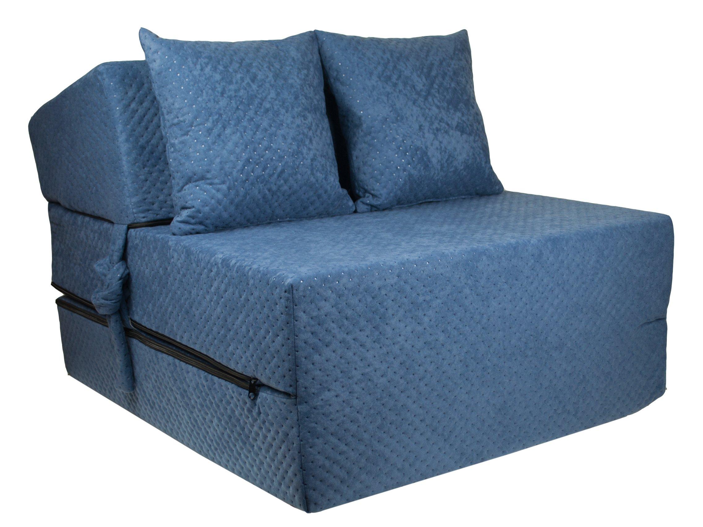 FIMEX Rozkládací křeslo SUPER Comfort pro hosty 70x200x15 Tmavě modrá