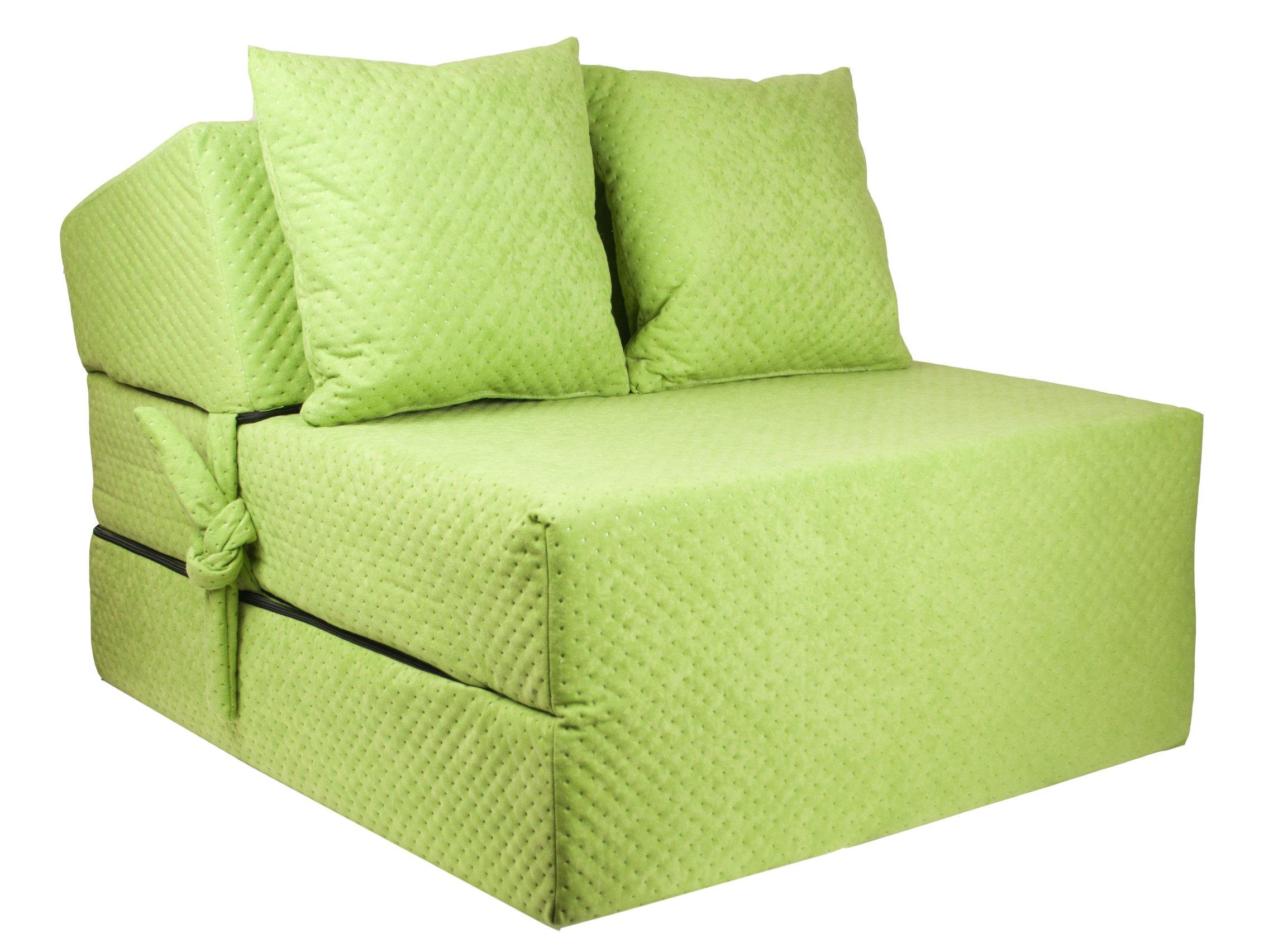 FIMEX Rozkládací křeslo SUPER Comfort pro hosty 70x200x15 Zelená